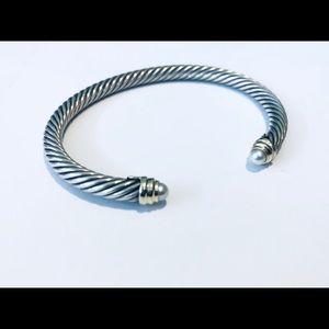 David Yurman 14k gold, Sterling, Pearl Bracelet